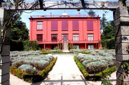 Roze vakantiehuis